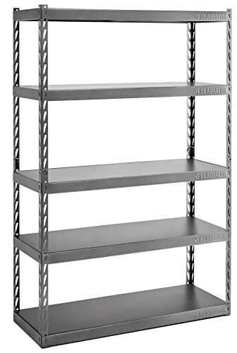 Gladiator 72 in. H x 48 in. W x 18 in. D 5-Shelf Steel Garage Shelving Unit with EZ Connect