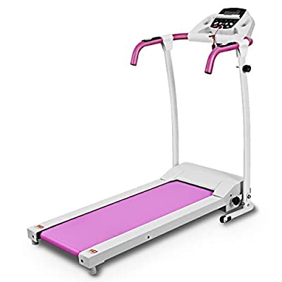 Goplus 800W Folding Treadmill Electric Motorized Power Fitness Running Machine with LED Display and Mobile Phone Holder Perfect for Home Use