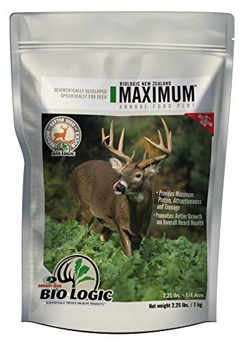 BioLogic New Zealand Maximum 2.25 Food Plot Blend (Best Food Plot For Deer Antler Growth)