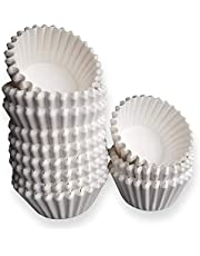 White Mini Cupcake Liners - 300-Pack - Mini Cups Sized Paper Cupcake Wrappers - Fits Perfectly Any Mini Muffin Baking Pan - Cup Cake Liner for Cupcakes, Muffins, Keto Fat Bombs & Mini Cheesecakes