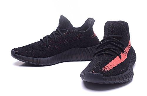 Adide - zapatilla baja Unisex adulto , negro (negro), 44EU=MEN 10 UK Negro y rojo