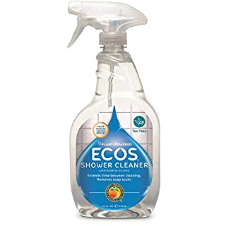 ECOS® Non-Toxic Shower Cleaner, Tea Tree Oil, 22oz Bottle by Earth Friendly Products (Pack of 2)