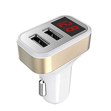 Cargador Universal para automóvil de Viaje Dual Digital USB ...