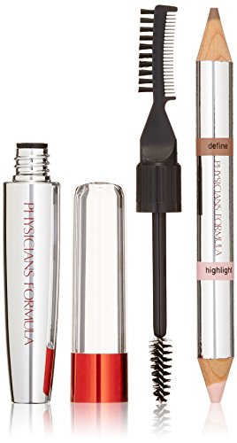 Physicians Formula Eye Booster 4-in-1 Brow Boosting Kit, Universal Brown, 0.29 Ounce