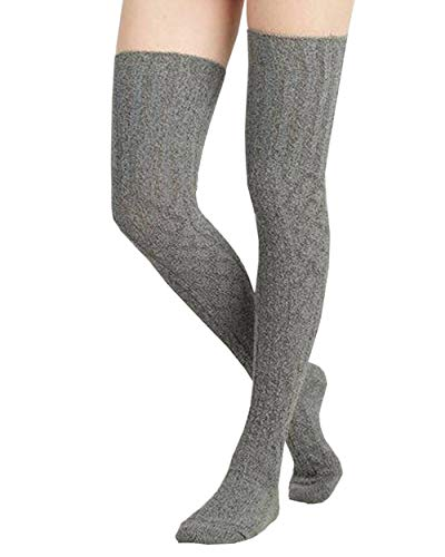 Womens Winter Cable Thigh High Leggings product image