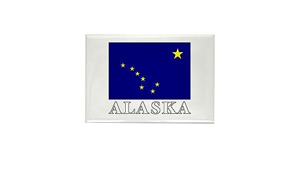 CafePress – Imán rectangular de bandera de Alaska – rectangular ...