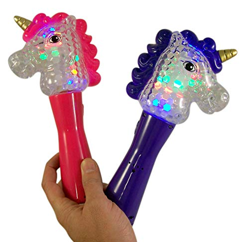Assorted Light Up Unicorn Magic Spinning Ball Wand, 9 Inch, Pack of 2 4