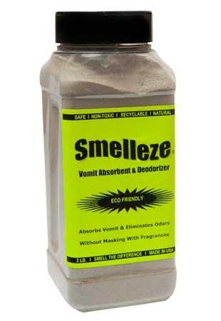 - SMELLEZE Natural Vomit & Smell Absorbent: 2 lb. Granules Stop Puke Odor