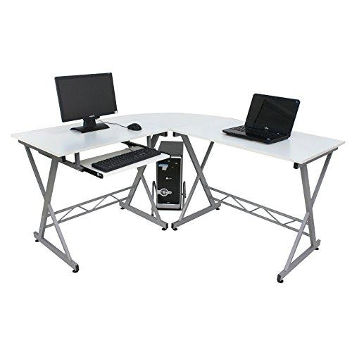 F2C Classy Modern Corner L-Shape Corner Computer Desk PC ...