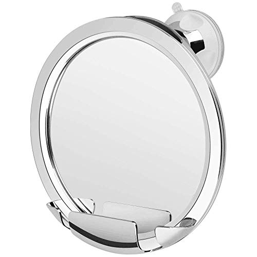 KEDSUM Fogless Shower Mirror, No Fog Bathroom Mirror with Razor Holder, Fog Free Shaving Mirror with Upgraded Strong Locking Suction, Fogless Mirror for Shower with 360°Rotation,Guaranteed Not to Fog by KEDSUM