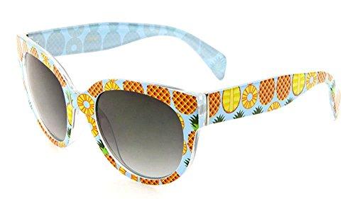 Tropical Pineapple Wayfarer Sunglasses (Blue, - Print Sunglasses