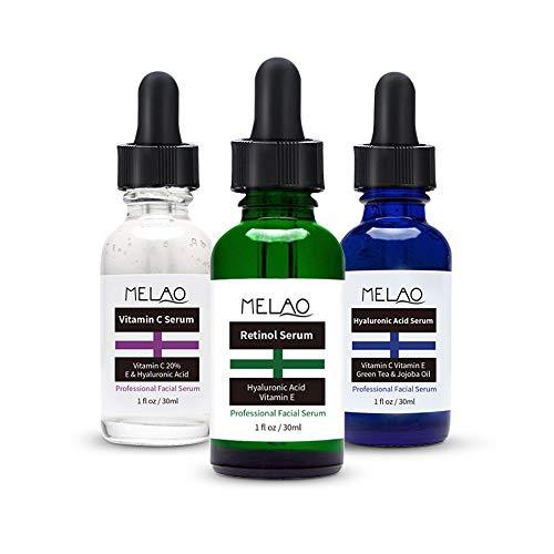 Anti-Aging Serum,Brightening Serum Set,Vitamin C Serum, Hyaluronic Acid Serum, Retinol Serum,Anti Wrinkle,Anti-aging Whiten Moisturize Facial Serum,3 x 30ML