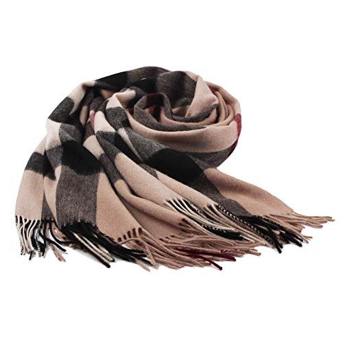 (Ladies Gift Idea Cashmere Scarf Fashion Warm Wool Wrap Shawl Winter Stole for Women (Apricot))