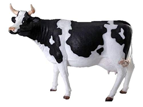LM Treasures Cow Holstein Standing Farm Prop Life Size Resin