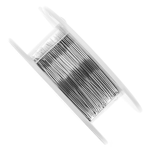 (Vintaj Artisan Pewter, Tarnish Resistant Metal Wire 24 Gauge Thick, 45 Foot Spool )