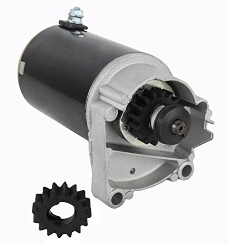 (HIGH TORQUE STARTER FITS V TWIN CYLINDER HD BRIGGS & STRATTON 498148 497596 FREE GEAR)