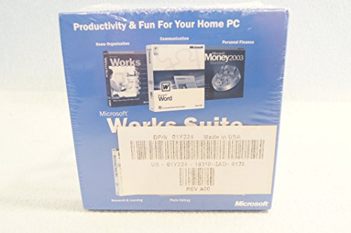 Microsoft Works Suite 2003 for Microsoft Windows Operating System: PC Computer Software Program Disc-CD-Rom Set: Sealed Brand New: Part Number: X08-89391