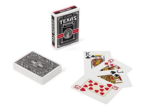Dal Negro: ''24125 -Texas Poker Monkey, Nero'' Poker, Rummy Playing Cards [ Italian Import ] by Dal Negro
