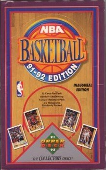 1991/92 Upper Deck NBA Basketball Cards Series 1 Hobby Box -
