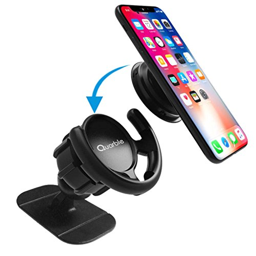 Quarble Pop Out Stand Car Mount 360° Rotation Car Dashboard Desk Wall Mount for Expanding Standing and Grip