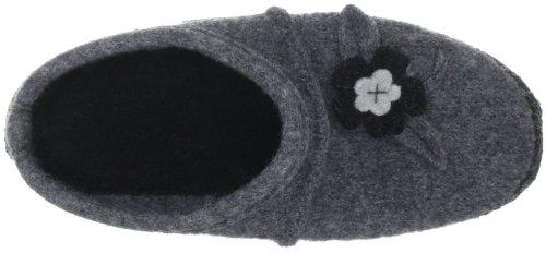 Nanga Flora 05-0089 - Pantuflas de fieltro para mujer Gris (mittelgrau 64)