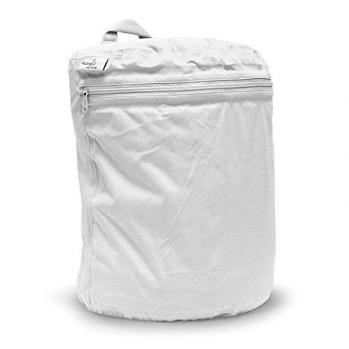 Kanga Care KRWETB_OS-S028 - Bolsas impermeables para pañales sucios, niños, 6-9 meses, color gris Blanco (Fluff)