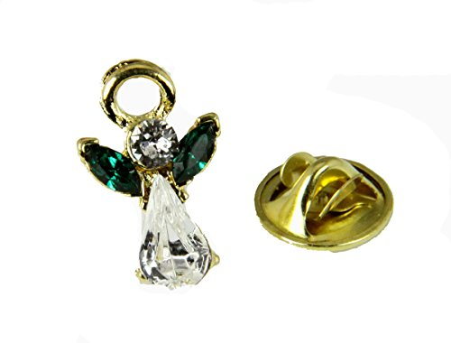 6030601 May Crystal Birth Month Angel Pin Guardian Lapel Brooch Tie Tack