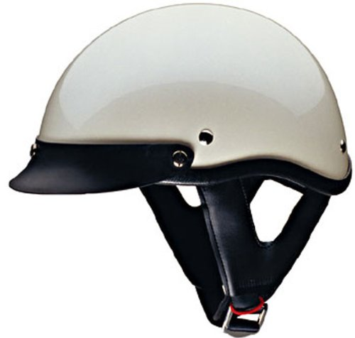 (HCI-100- White Pearl Motorcycle/Scooter Half Helmet (Large))