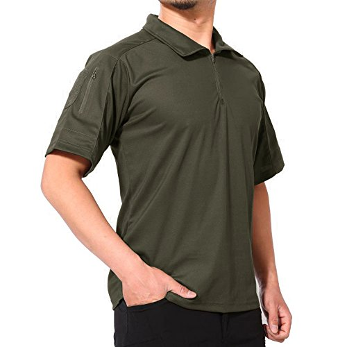 接辞コンピューターゲームをプレイする男らしいKEFITEVD ポロシャツ メンズ 無地 アウトドア 開襟シャツ タクティカル 夏 速乾 スポーツウェア 折り襟 半袖