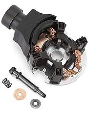 Aramox Carbon Brush Holder, Car Metal Starter Carbon Brush Holder Kit Accessory Replace Fit for Honda 31210-5G0-A01