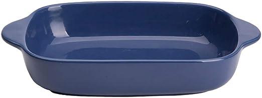 Amazon.com: Bandeja de cerámica esmaltada para hornear para ...
