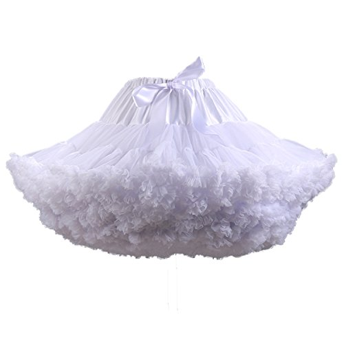Puffy Skirts For Kids (Ruiyuhong Vintage Petticoat Flower Girls Petticoat Puffy Tutu Underskirt Slips)