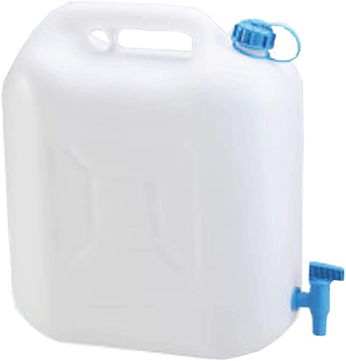 Brand New 15L 15 Litre Clear Plastic Jerry Can Water Container with Tap