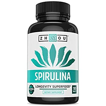 Non-GMO Spirulina Tablets, Highest Quality Spirulina on Earth, Sustainably Grown in California without Pesticides, 100% Vegetarian & Non-Irradiated, ...