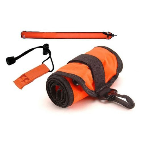 6 ft Orange Scuba Diving Dive Signal / Marker Tube with Inflator, (safety sausage) Crafted in the USA
