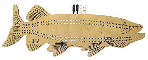 (Musky Fish Cribbage Board - Fun Fish & Animal Shapes, Card Games)