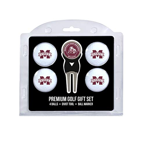 - Team Golf NCAA Mississippi State Bulldogs Regulation Size Golf Balls (4 Count) & Divot Tool with Removable Double-Sided Magnetic Marker