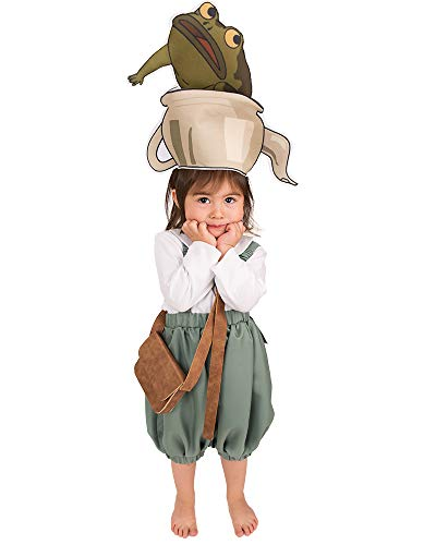 Coskidz Children's Gregory Cosplay Costume for Kids with Teapot Hat (One Size) White/Green -