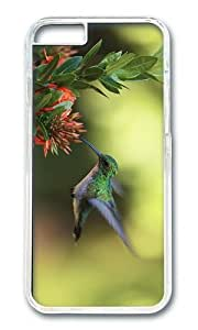 MOKSHOP Adorable colibri nectar Hard Case Protective Shell Cell Phone Cover For Apple Iphone 6 Plus (5.5 Inch) - PC Transparent