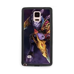 RIKI S7S1TB2N Caso funda Samsung Galaxy Note 4 Caso funda del teléfono celular Negro