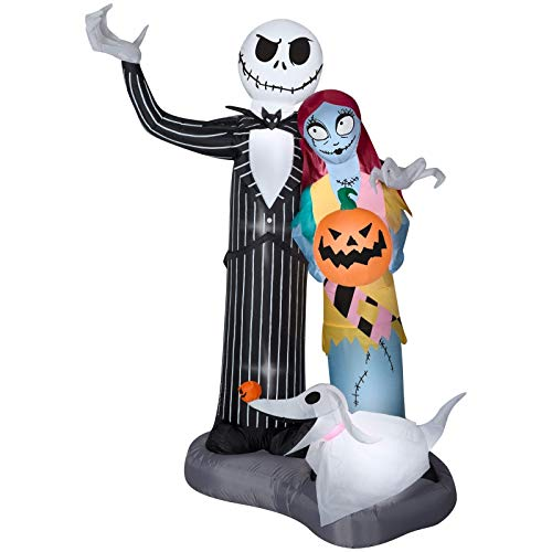Yal Boutique Halloween Airblown Inflatable NlGHTMARE Before CHRlSTMAS Jack Sally Scene 6FT -
