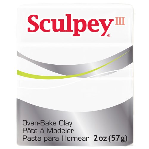 (Polyform S302-001 Sculpey-3 Polymer Clay, 2-Ounce, White)