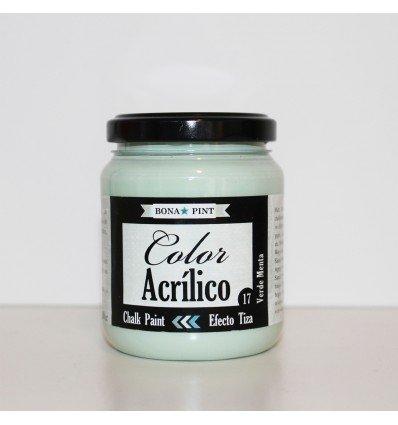Pintura acrilica efecto pizarra. Chalk Paint color- 17 verde ...