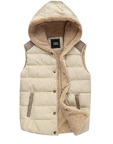 ZSHOW Women's Outwear Sport Casual Warm Thick Hooded Vest Fleece Jacket