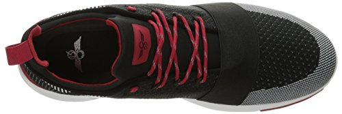 Creative Recreation Ceroni, Sneaker a Collo Basso Uomo Multicolore (Blck/Wht/Rd)