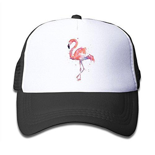 Watercolor Flamingo Kids Mesh Cap Trucker Hats Adjustable (Baby Squid Costume)