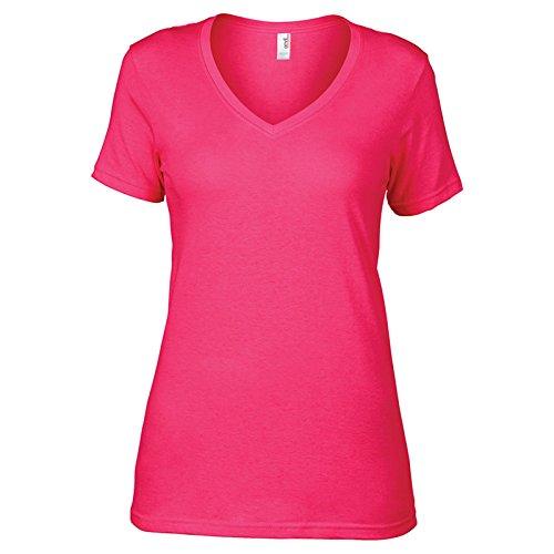 Anvil - Camiseta - para mujer Hot Pink