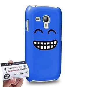 Case88 [Samsung Galaxy S3 Mini] 3D impresa Carcasa/Funda dura para & Tarjeta de garantía - Art Fashion Grin Kawaii Emoticon Edition