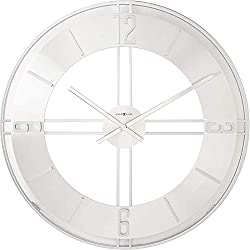 Howard Miller Stapleton Wall Clock 625-520 - Oversized Iron and Nickel with Quartz Movement