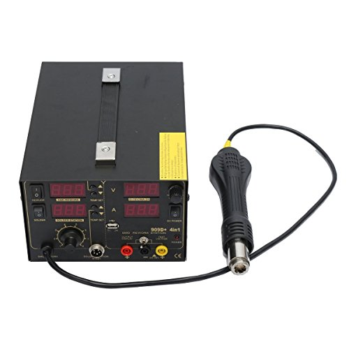 Saike 909D+ Rework Soldering Station + Hot Air Gun + DC Power Supply 3 in 1 Multi-function Set with full Accessories by Artee Shop (Image #3)
